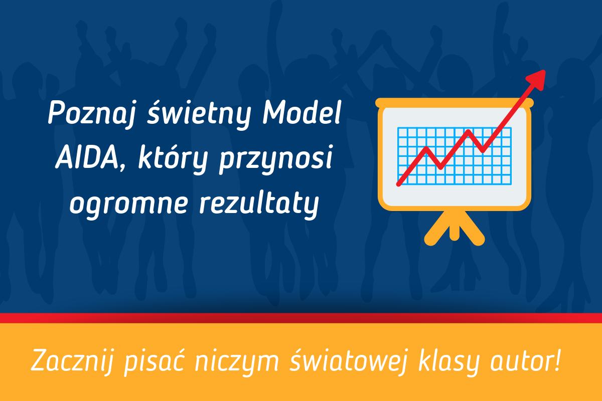 Rosnący wykres marketingowy - Model AIDA