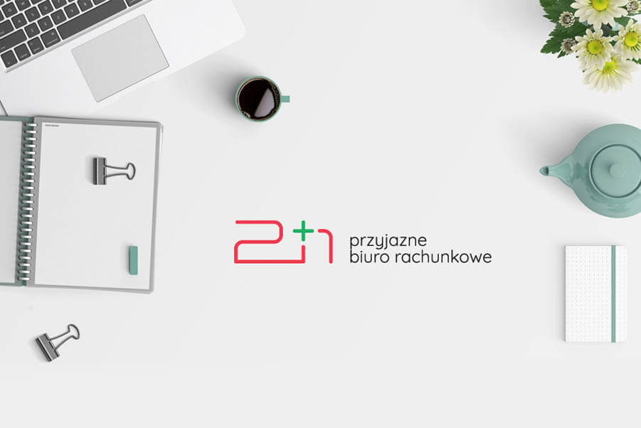 2+1 biuro rachunkowe prezentacja logo biurko 2