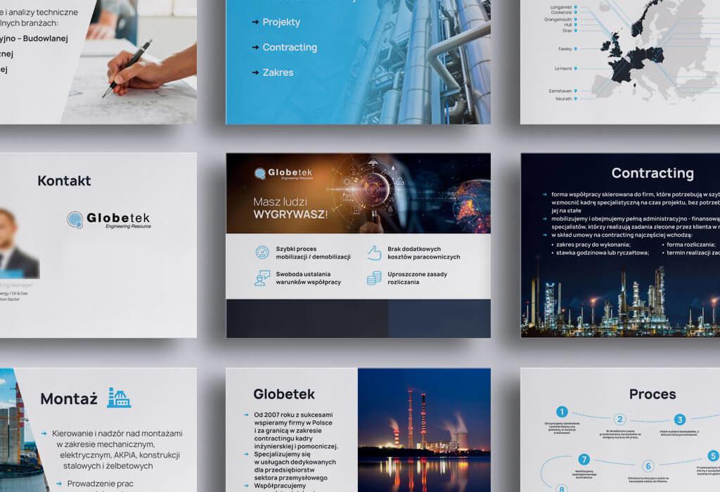 Globetek prezentacja kilka slajdów