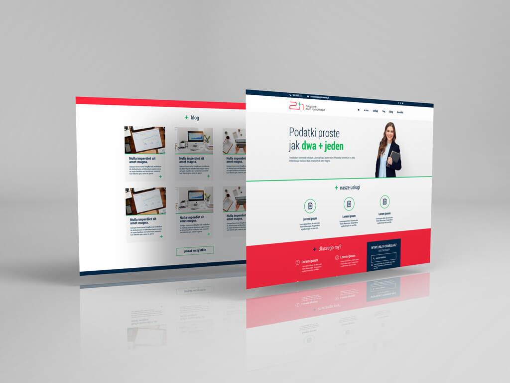 biuro rachunkowe 2+1 prezentacja strony głównej orazbloga
