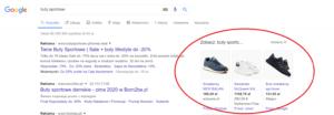 Reklama zakupu produktów wwyszukiwarce zamieszczona przezGoogle Ads