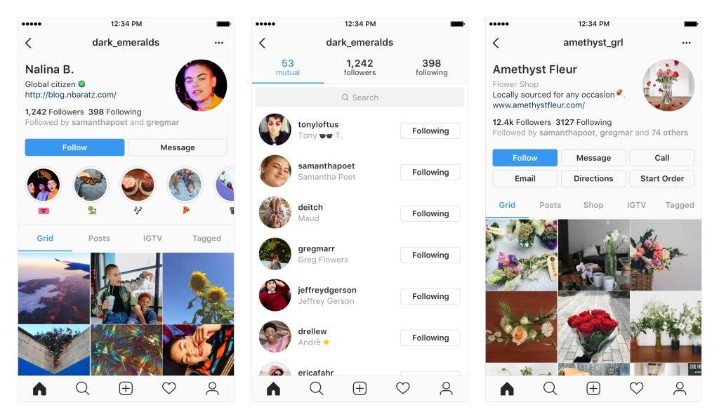 nowy wygląd profili instagram