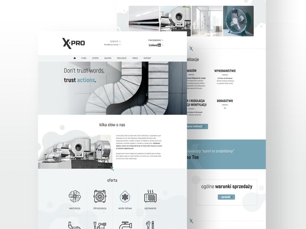 x pro strona www przedsiębiorstwo projektowo wdrożeniowe